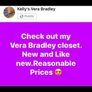 New and light use Vera Bradley in my closet
